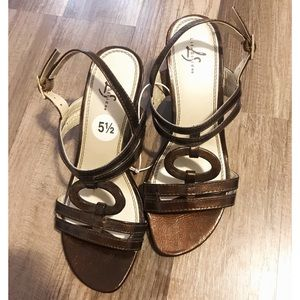 Life Stride Shoes - Life Stride Brown Wedges